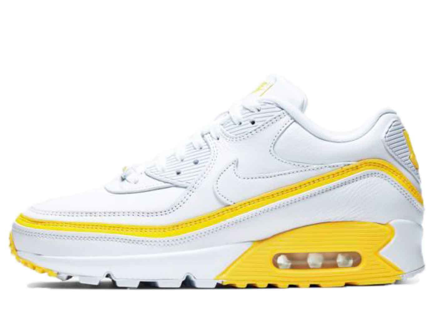 Nike Air Max 90 Undefeated White Optic Yellowの写真