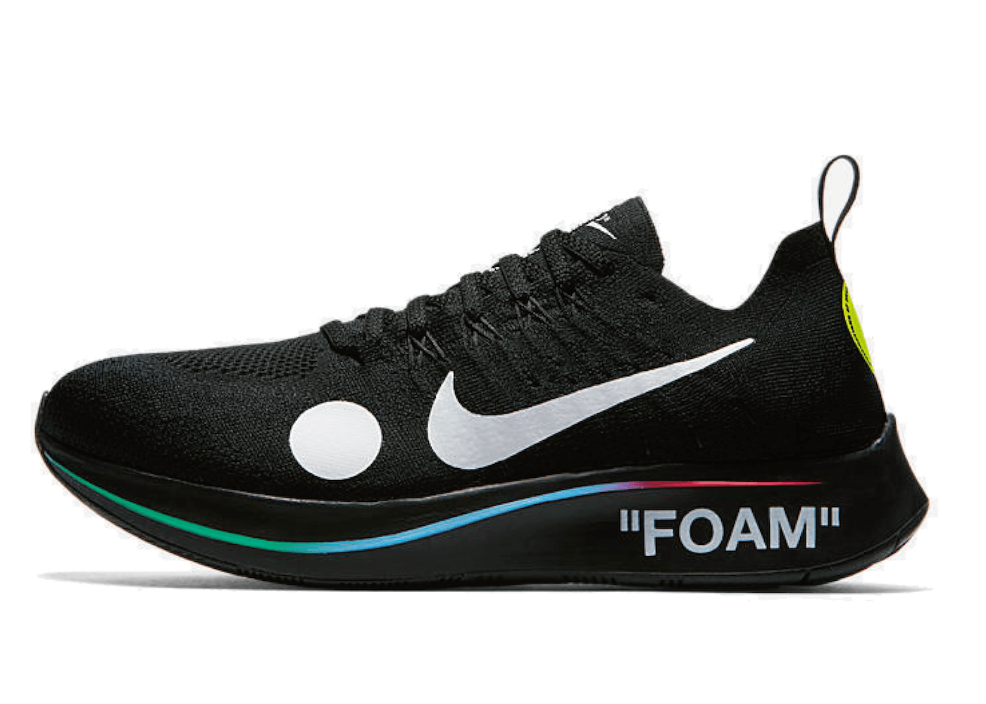 NIKE ZOOM FLY MERCURIAL FLYKNIT ×OFF-WHITE BLACKの写真