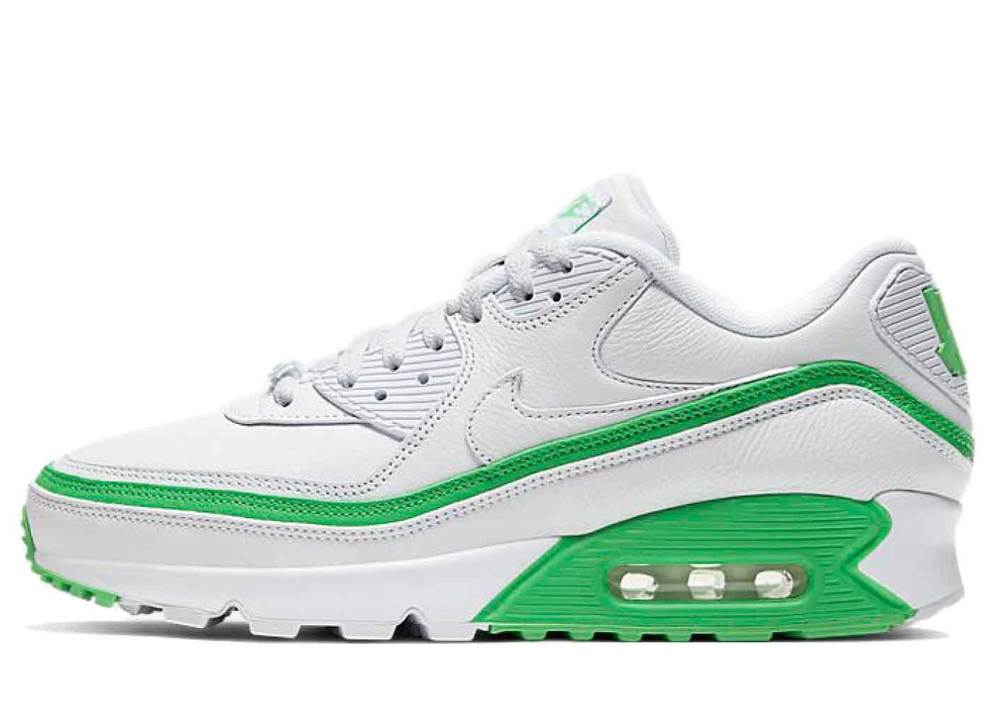 Nike Air Max 90 Undefeated White Green Sparkの写真