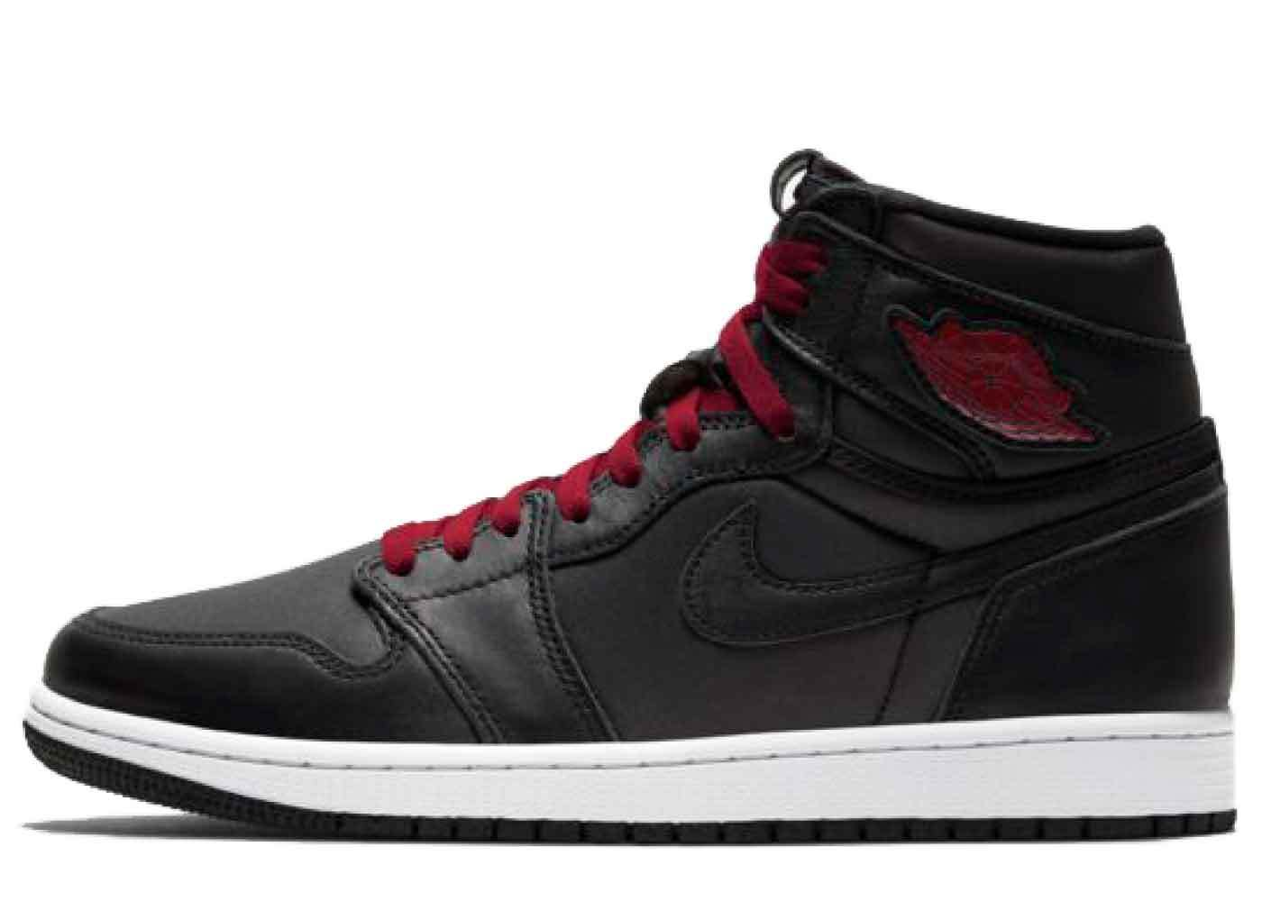 Nike Air Jordan 1 Retro High Black Gym Red Satinの写真