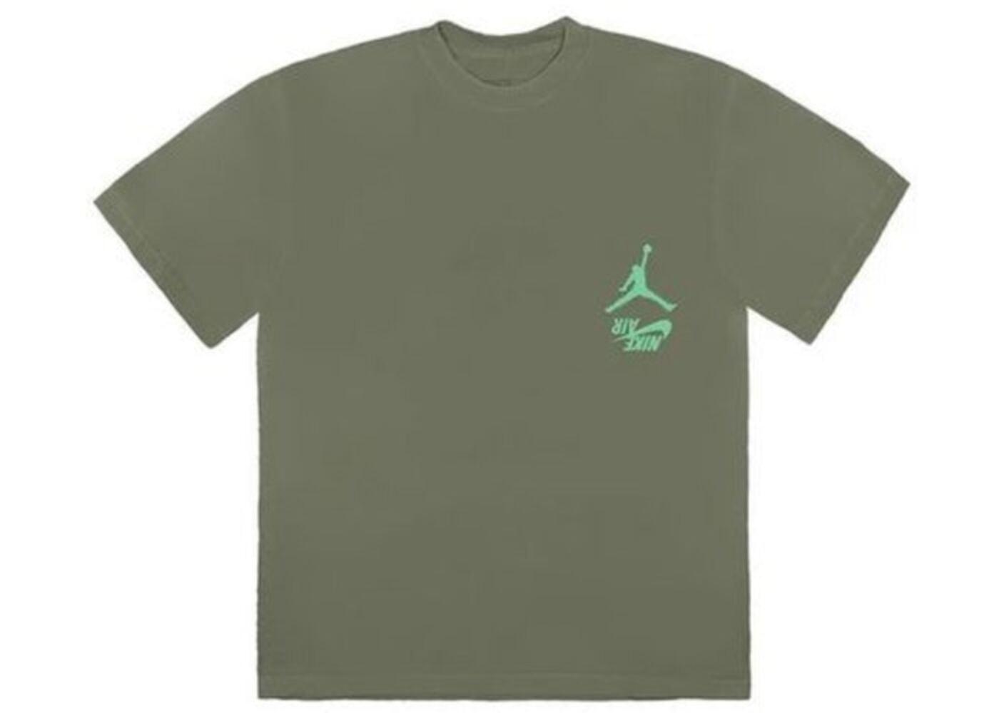 Travis Scott × Nike Jordan Cactus Jack Highest T Shirt Oliveの写真