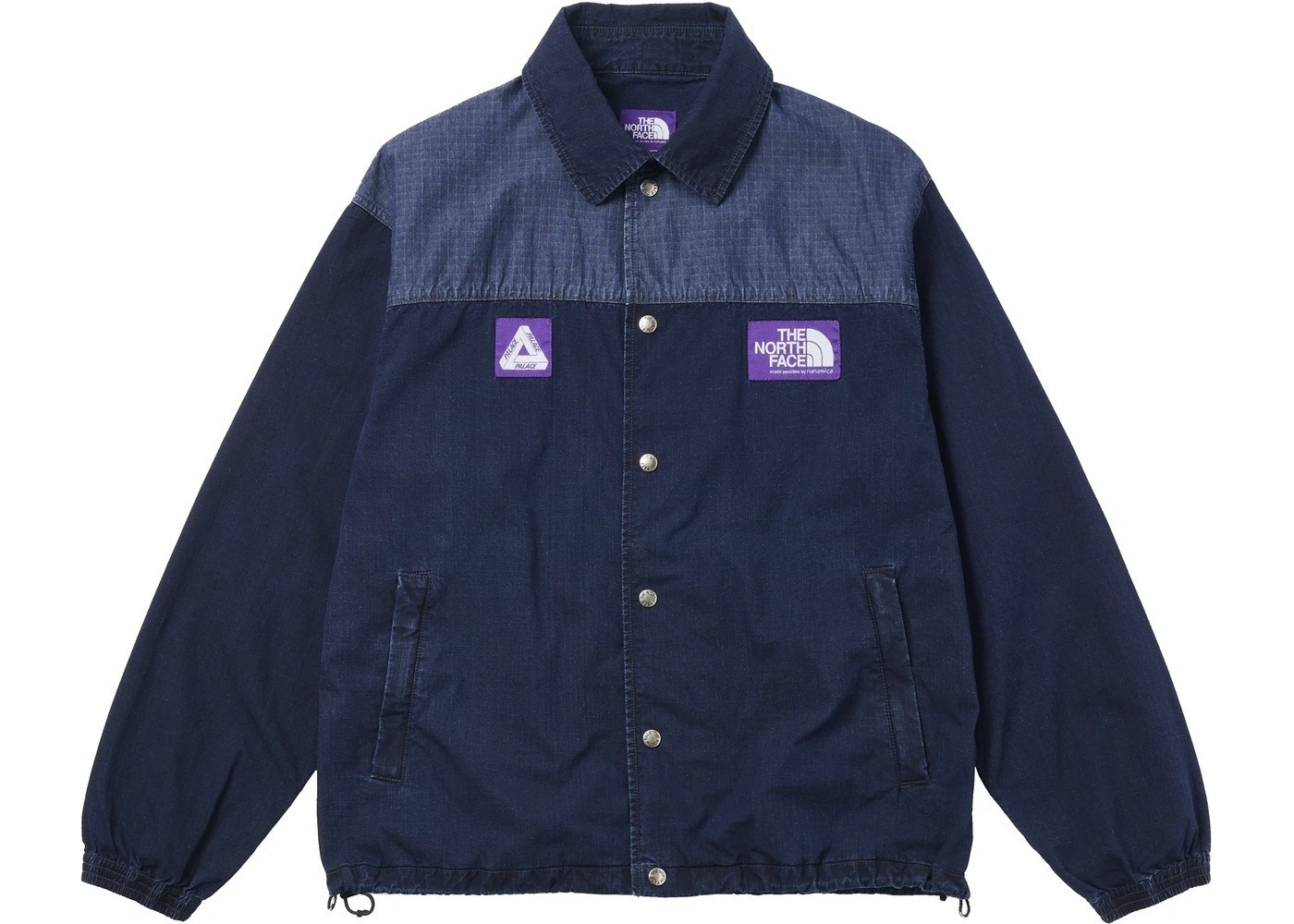 TNF × Palace Purple Label Indigo Ripstop Coach Jacket Indigo (SS21)の写真