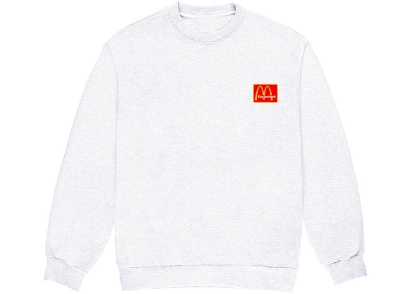 Travis Scott x McDonald's Staff Crewneck White Redの写真