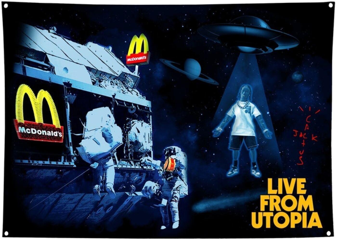 Travis Scott x McDonald's Live From Utopia Flag Multiの写真