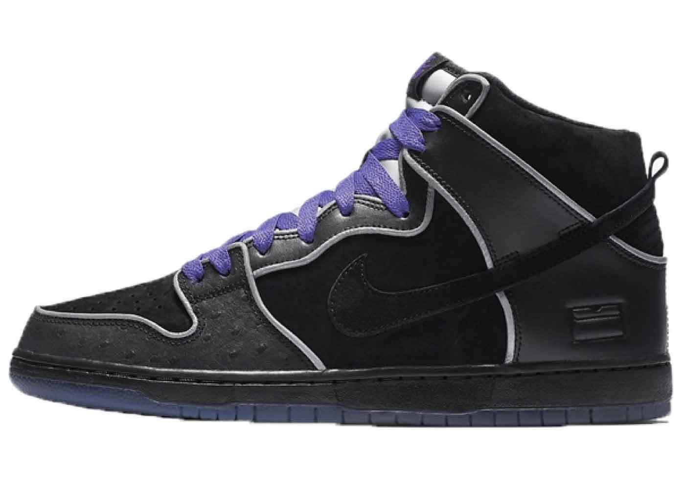 Nike SB Dunk High Black Purple Boxの写真