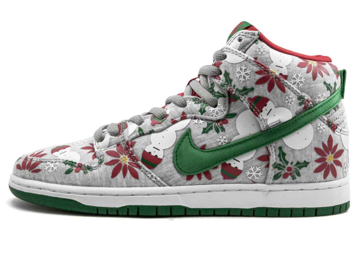 """Nike Dunk SB High Concepts """"Ugly Christmas Sweater"""" Greyの写真"""