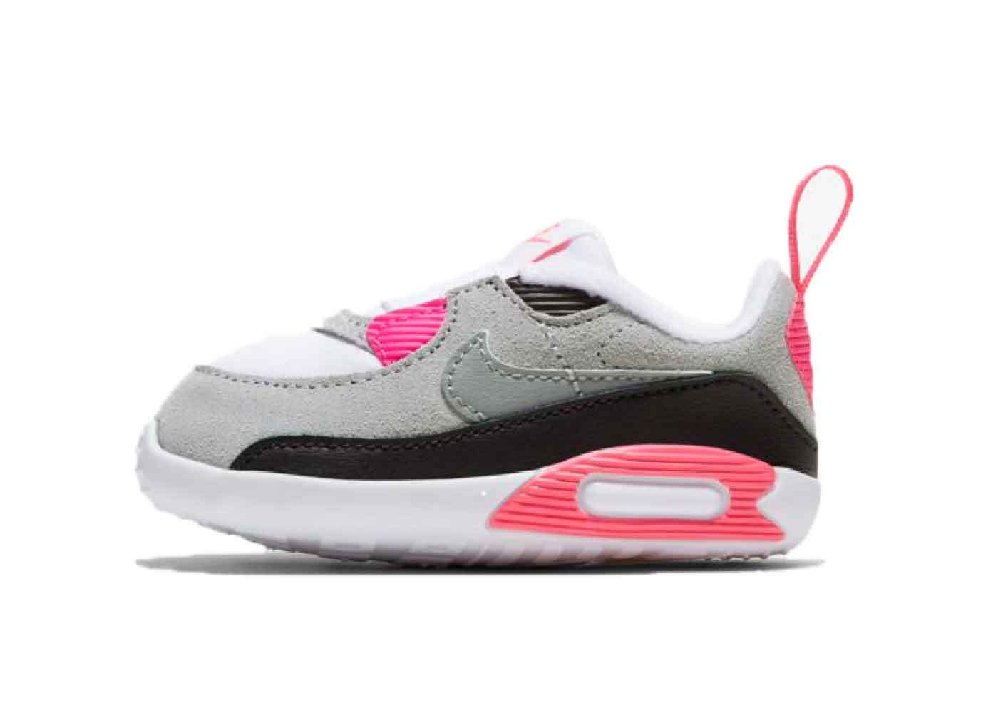 Nike Air Max 90 White/Particle Grey-Pink-Black Womens Infantsの写真