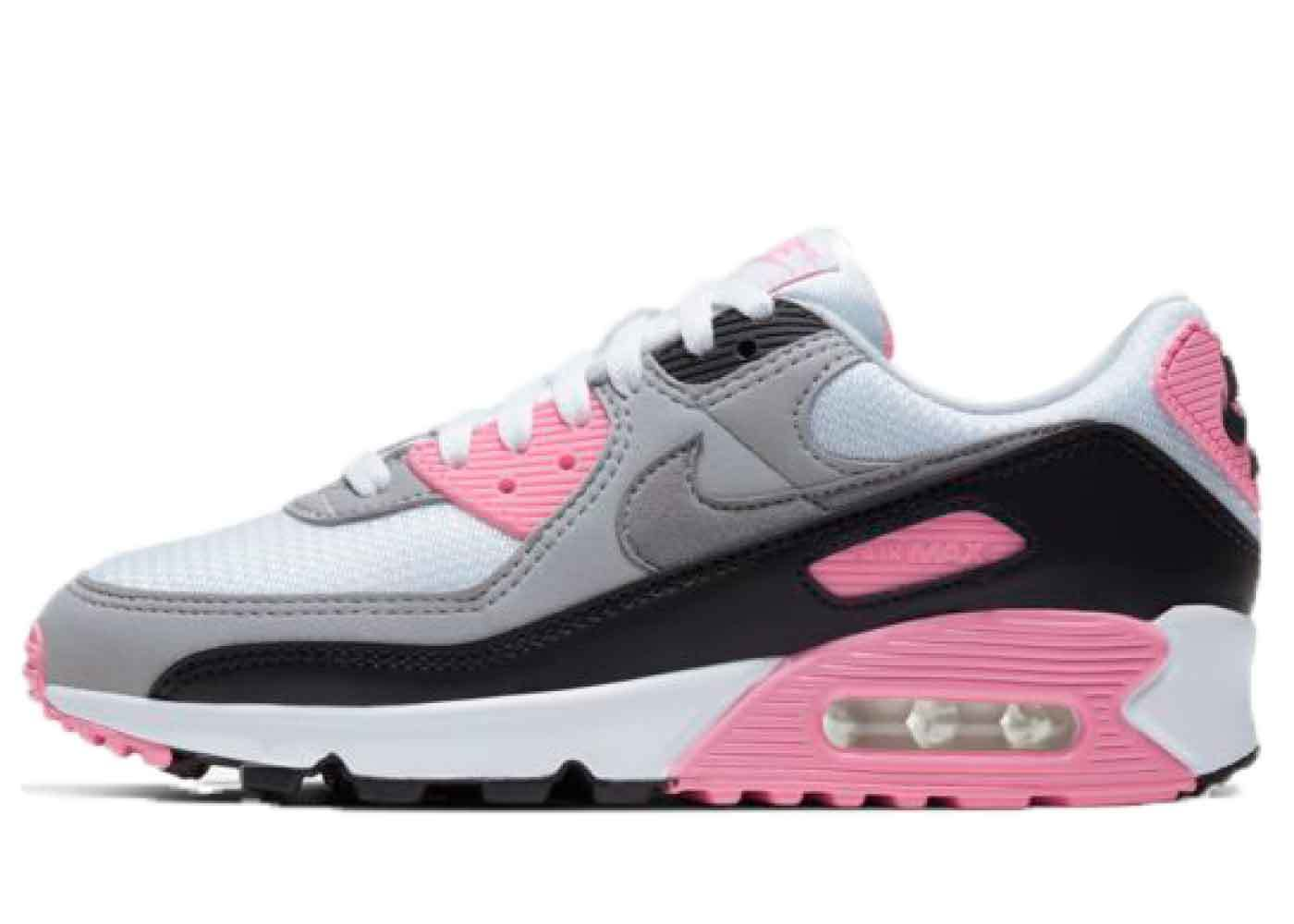 Nike Air Max 90 White/Particle Grey-Pink-Black Womensの写真