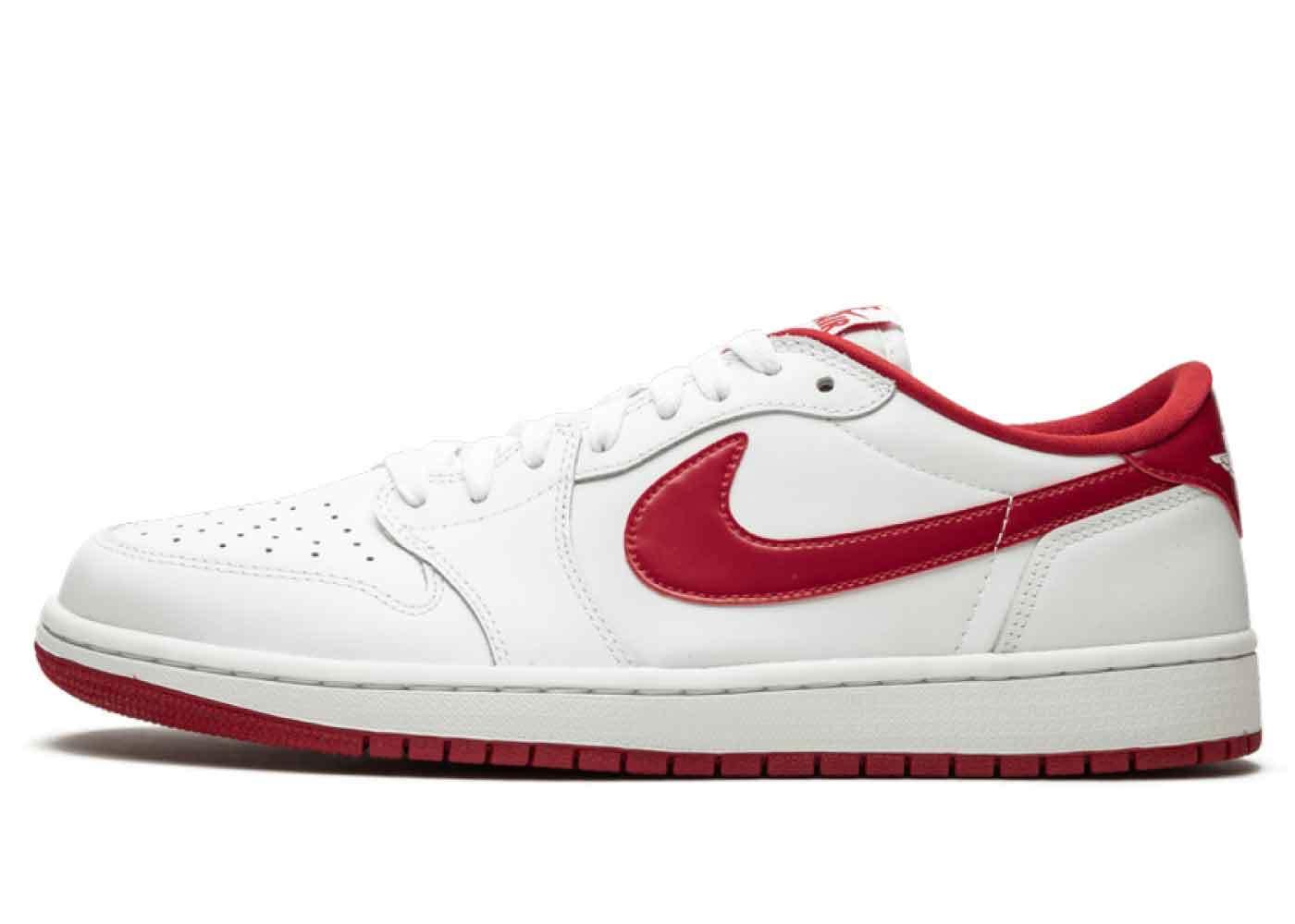 Nike Air Jordan 1 Retro Low White Varsity Redの写真