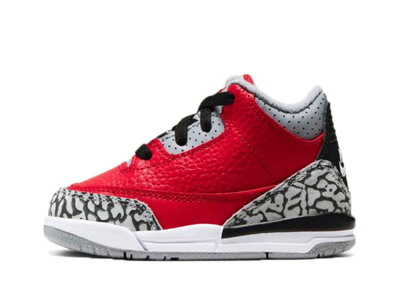 Nike Air Jordan 3 Retro Red Cement Infantsの写真
