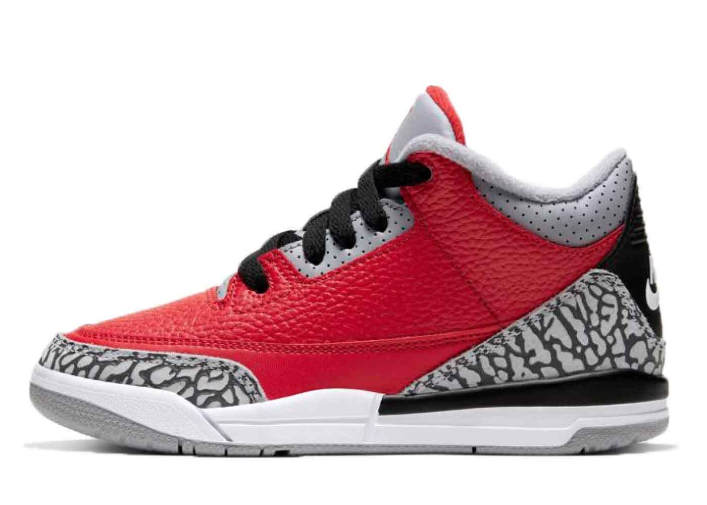 Nike Air Jordan 3 Retro Red Cement Little Kidsの写真