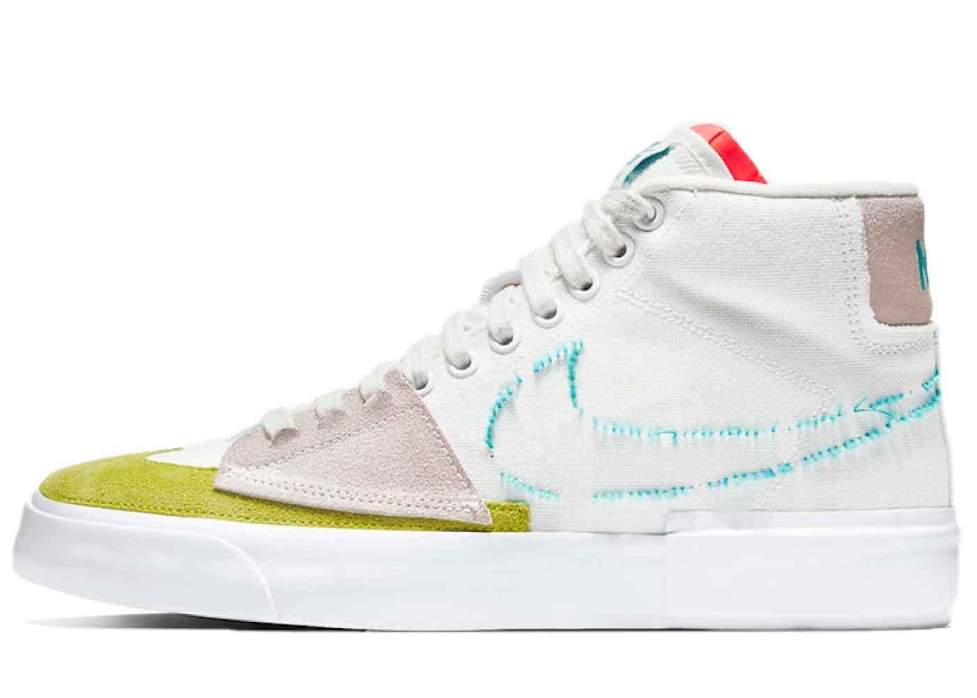 Nike SB Blazer Mid Edge Summit White/Orange Aquaの写真
