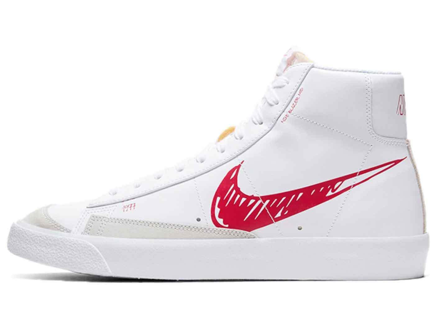 Nike Blazer Mid Vintage '77 Sketch Pack University Redの写真