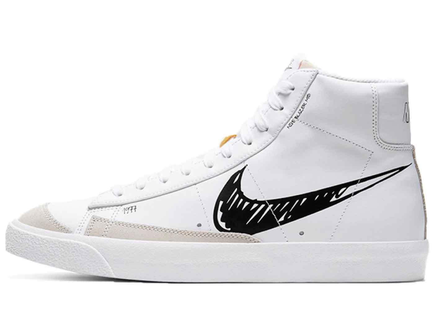 Nike Blazer Mid Vintage '77 Sketch Pack White/Blackの写真