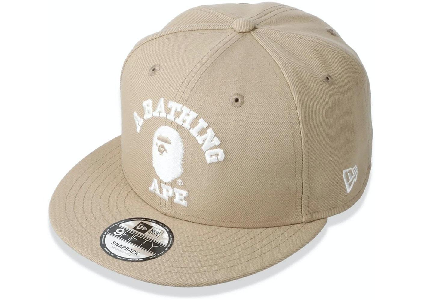 Bape College New Era Snapback Hat Beige (SS21)の写真
