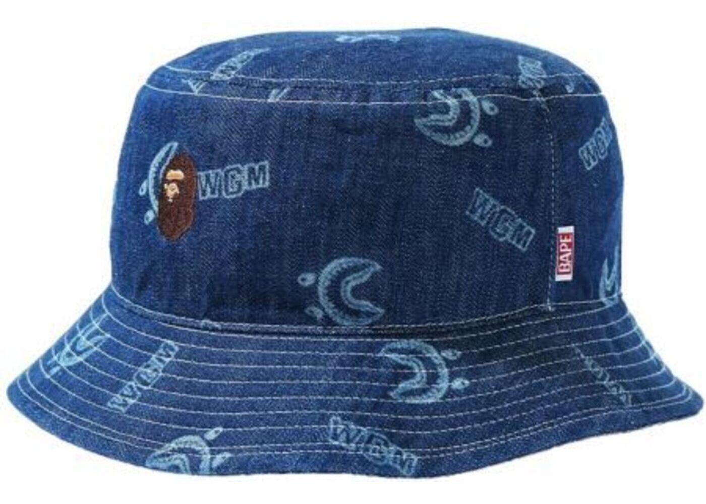 Bape Shark Pattern Denim (W) Bucket Hat Indigo (SS21)の写真