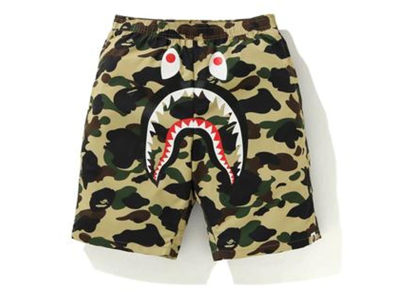 Bape 1st Camo Shark Beach Pants Yellow (FW20)の写真