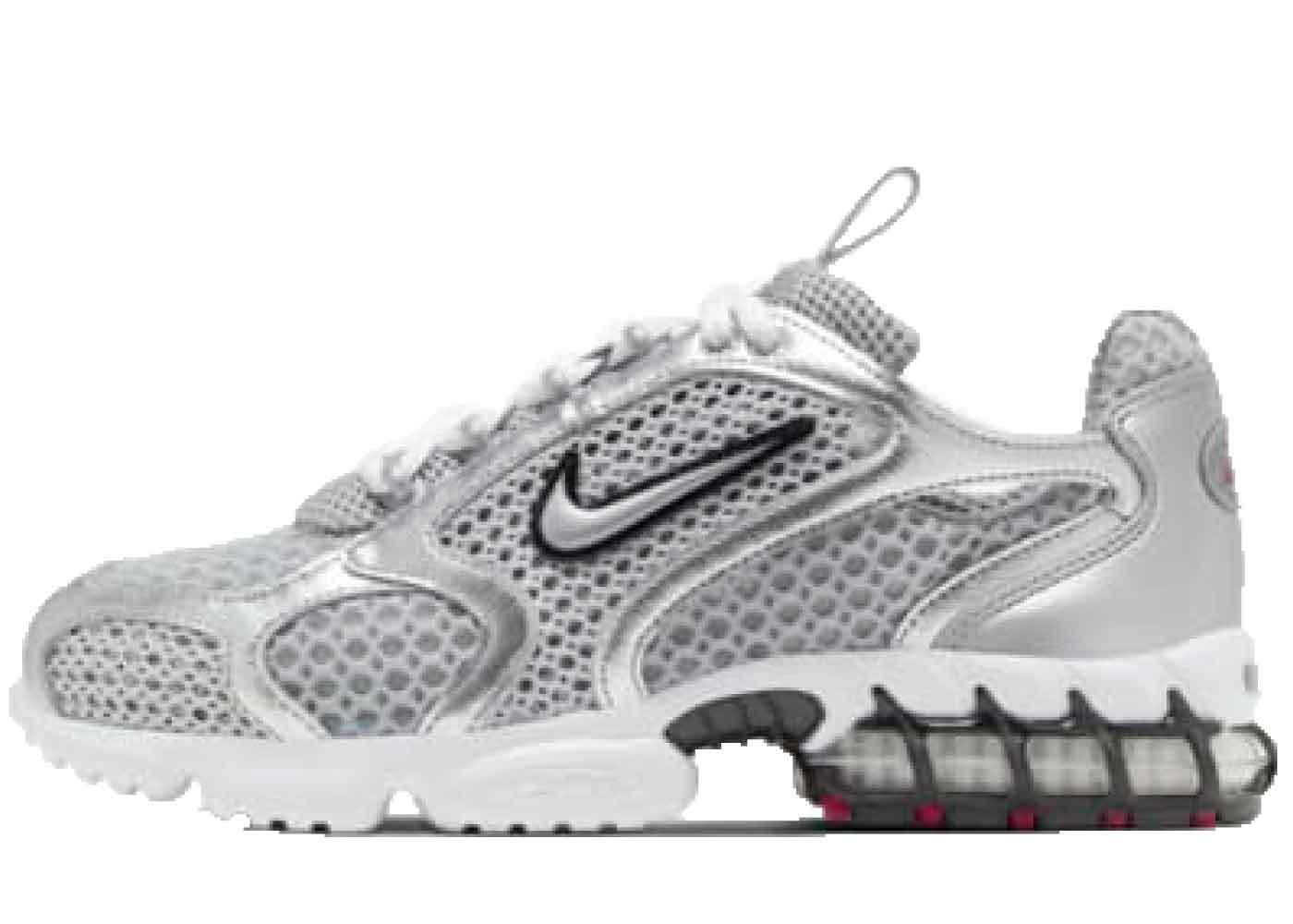 Nike Air Zoom Spiridon Cage 2 Metallic Silver Womensの写真