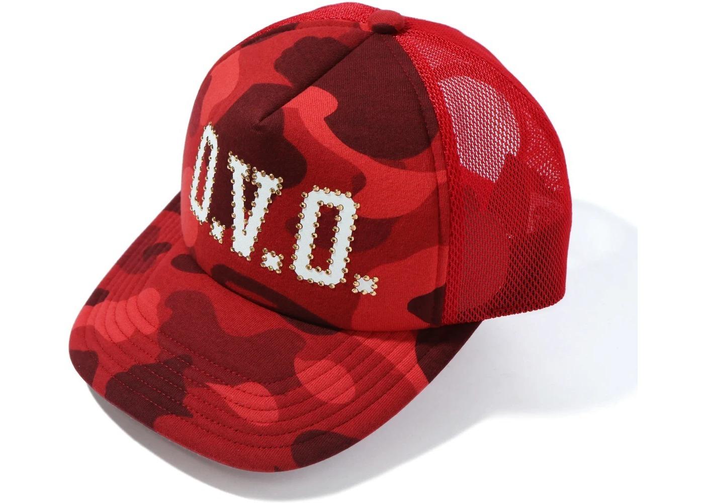 Bape x OVO Color Camo Mesh Cap Red (FW20)の写真