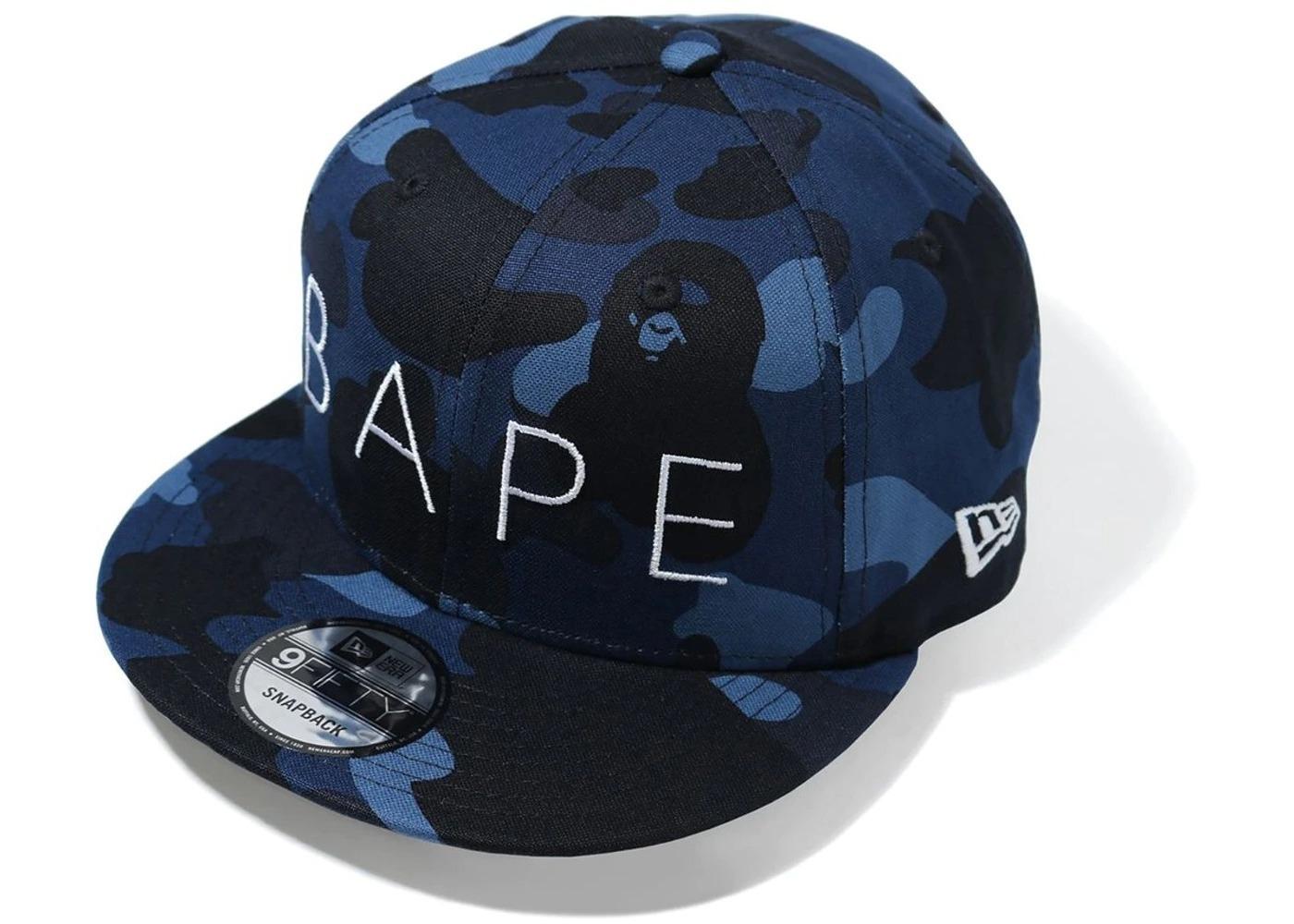 Bape Color Camo New Era Snap Back Cap Navy (FW20)の写真