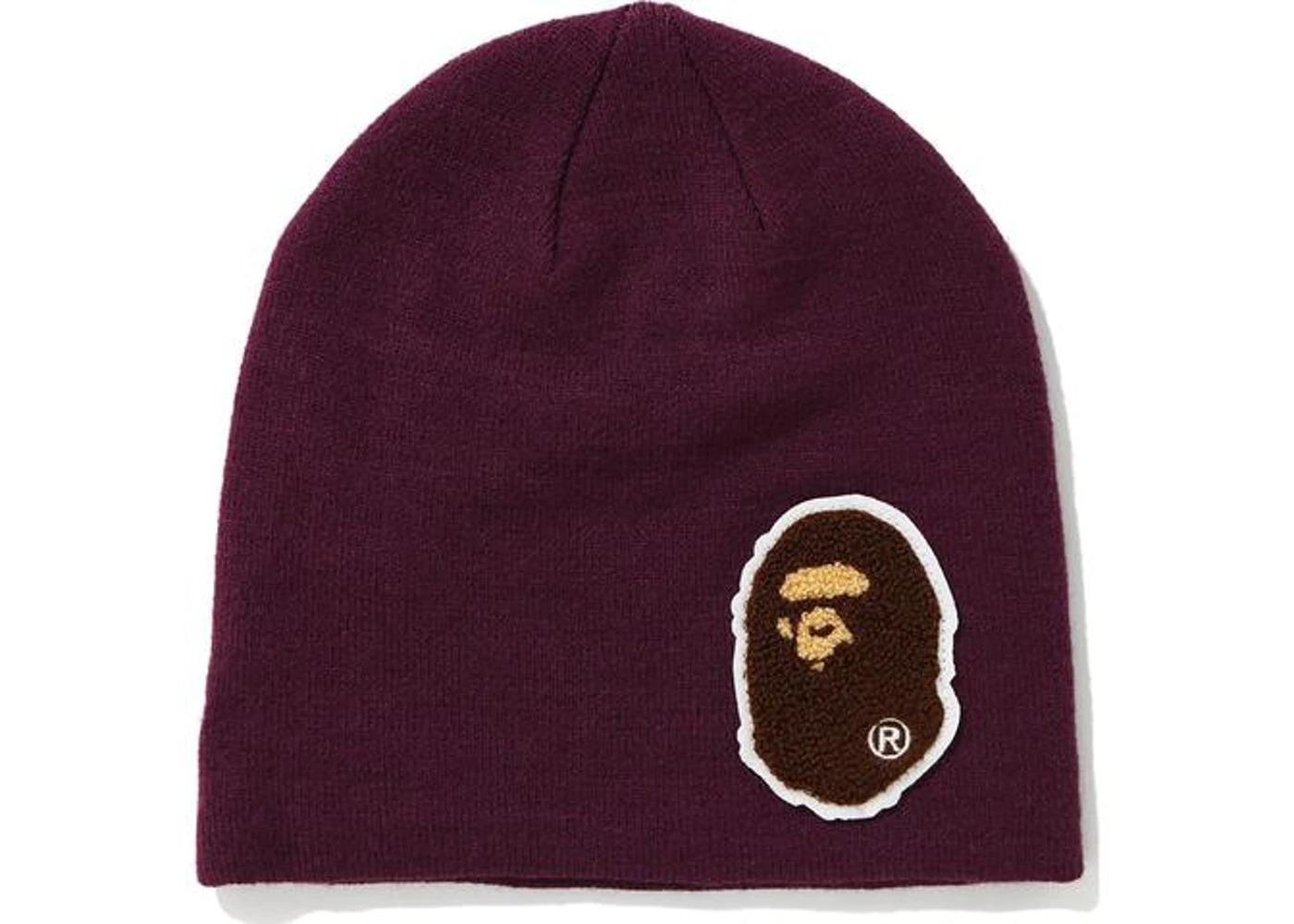 Bape Big Ape Head Knit Cap Purple (FW20)の写真