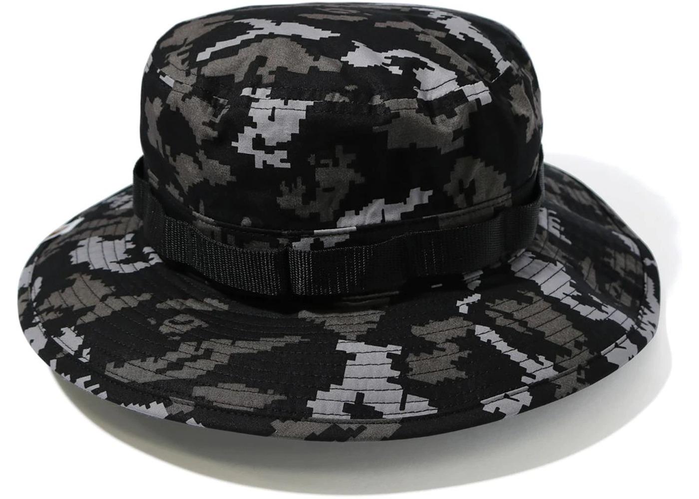 Bape Digital Camo Military Hat Black (FW20)の写真