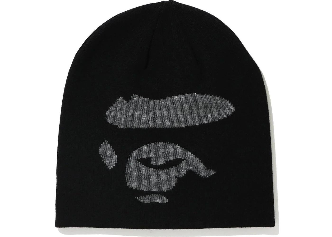 Bape Ape Face Knit Cap Black (FW20)の写真