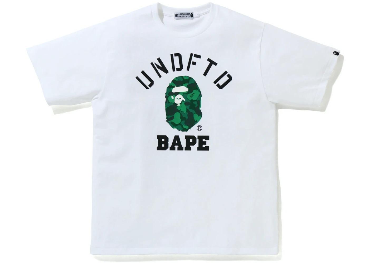 Bape x Undefeated College Tee White (FW20)の写真