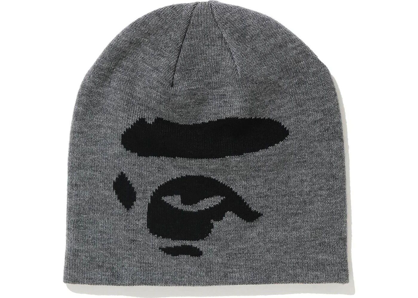 Bape Ape Face Knit Cap Grey (FW20)の写真