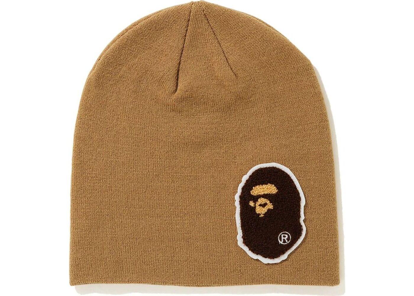 Bape Big Ape Head Knit Cap Beige (FW20)の写真