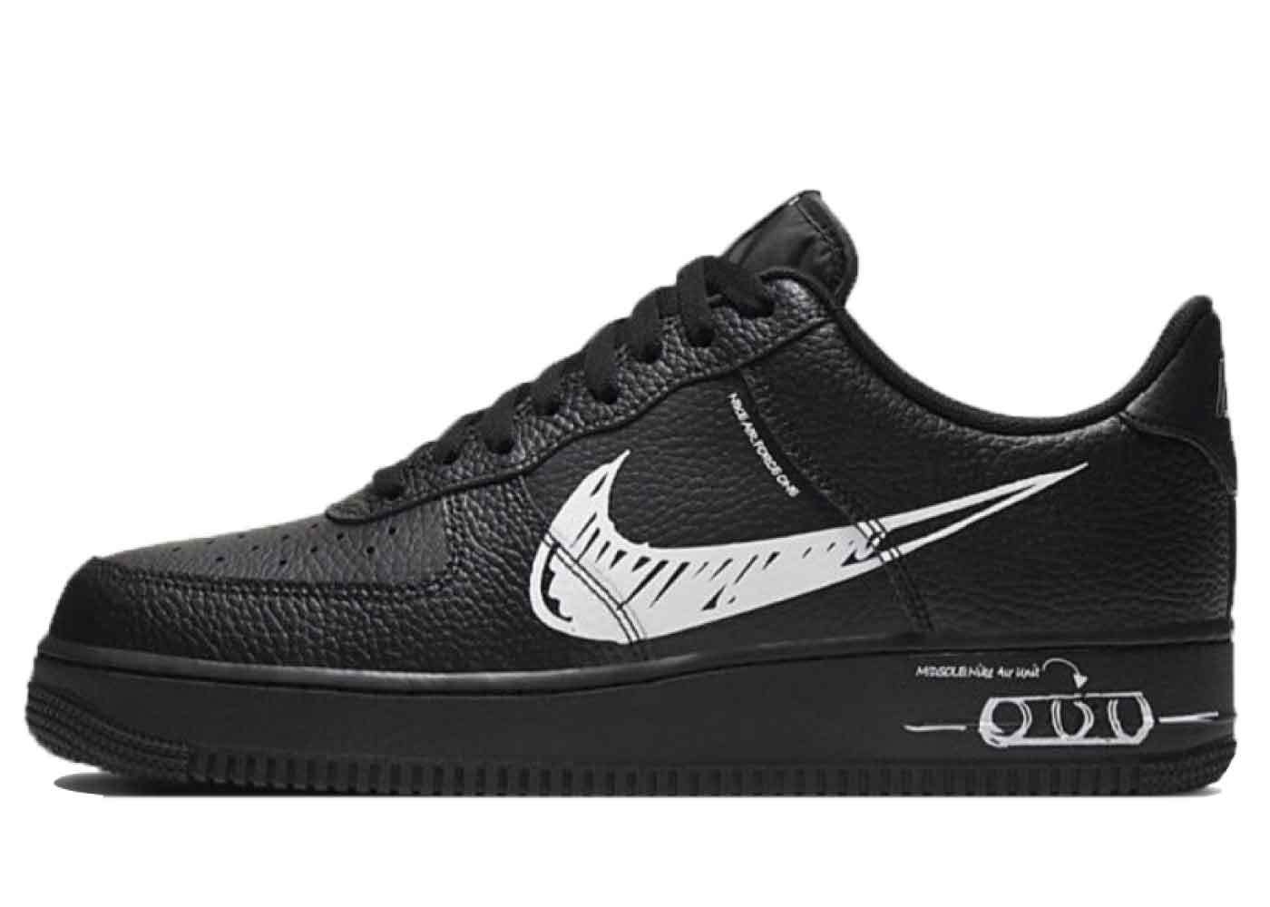 Nike Air Force 1 Low Utility Sketch Black Whiteの写真