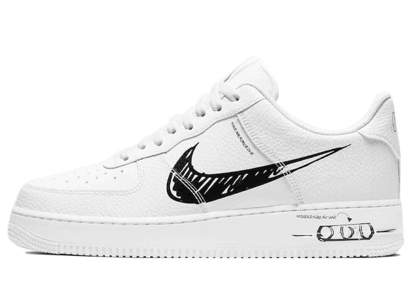 Nike Air Force 1 Low Utility Sketch White Blackの写真