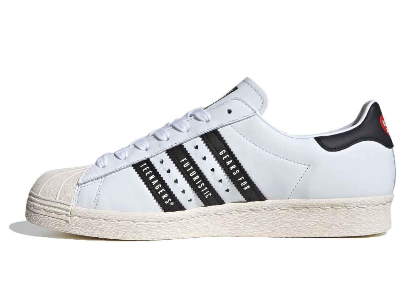 Human Made × Adidas Superstar 80s White Blackの写真