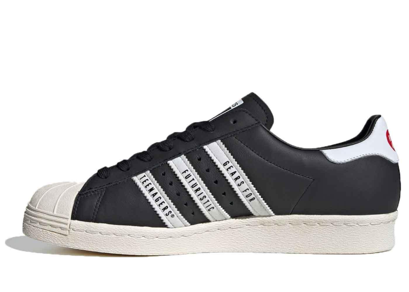 Human Made × Adidas Superstar 80s Blackの写真