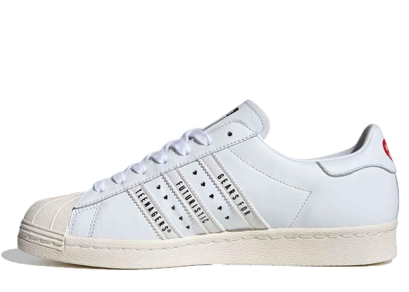 Human Made × Adidas Superstar 80s White Sailの写真