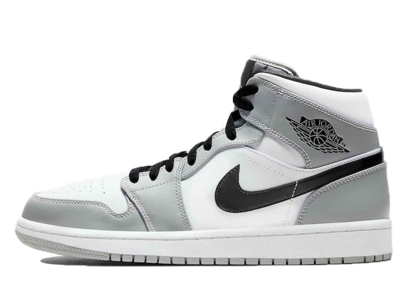 Nike Air Jordan 1 Mid Light Smoke Greyの写真
