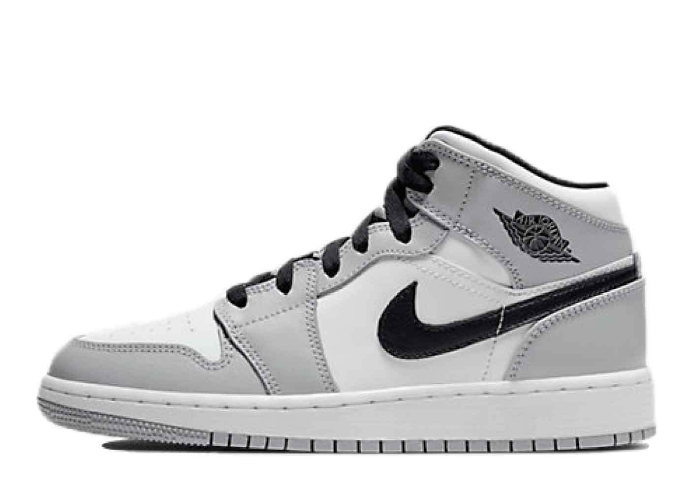 Nike Air Jordan 1 Mid Light Smoke Grey (GS)の写真