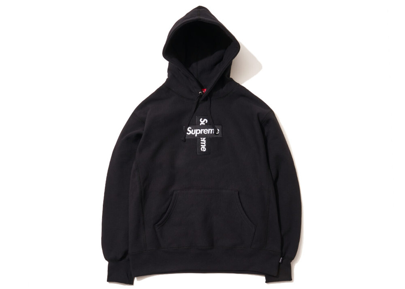 Supreme Cross Box Logo Hooded Sweatshirt Blackの写真