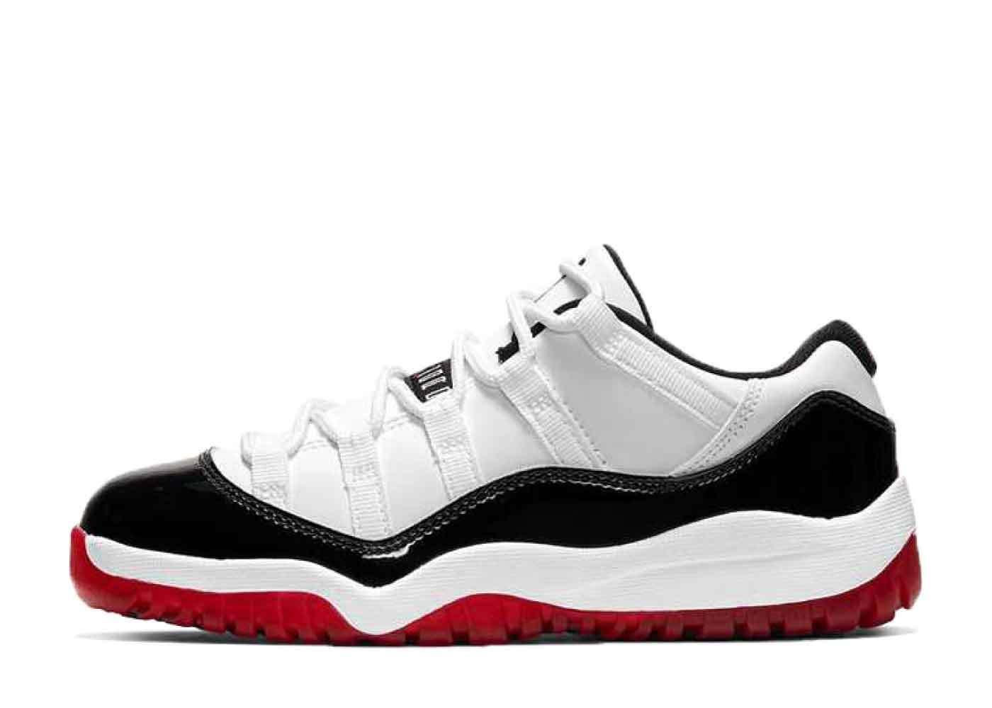 Nike Air Jordan 11 Low White Bred Little Kidsの写真