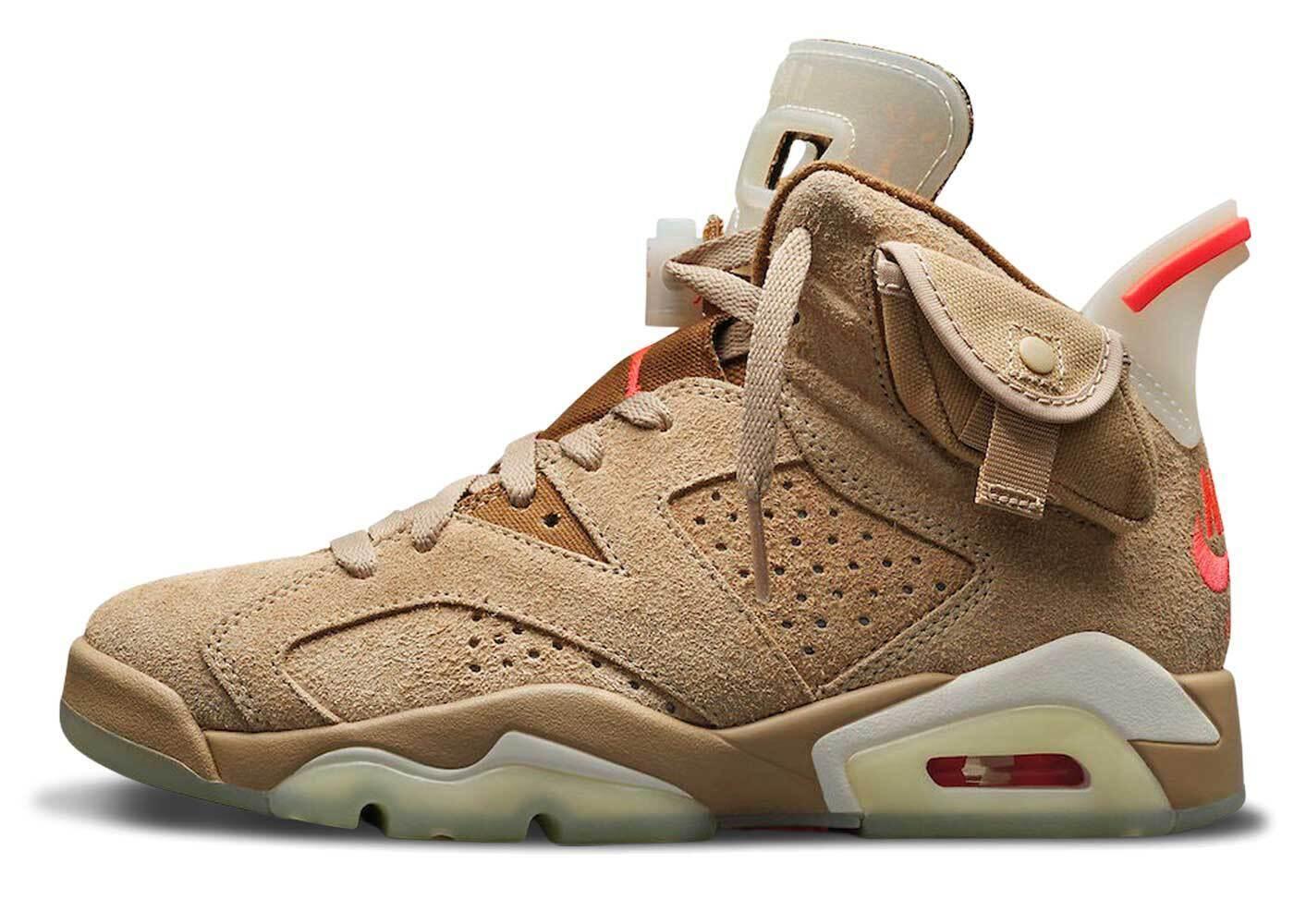 Travis Scott × Nike Air Jordan 6 British Khakiの写真