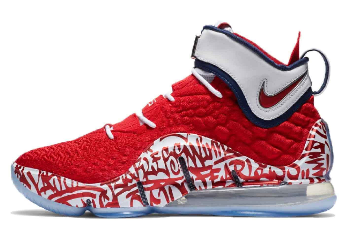 Nike LeBron 17 Graffiti Fire Redの写真