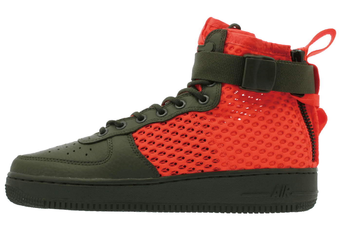 SF Air Force 1 Mid Cargo Khaki Total Crimsonの写真