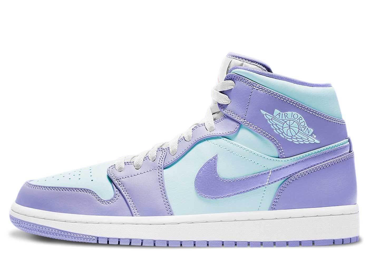 Nike Jordan 1 Mid Aqua Purpleの写真