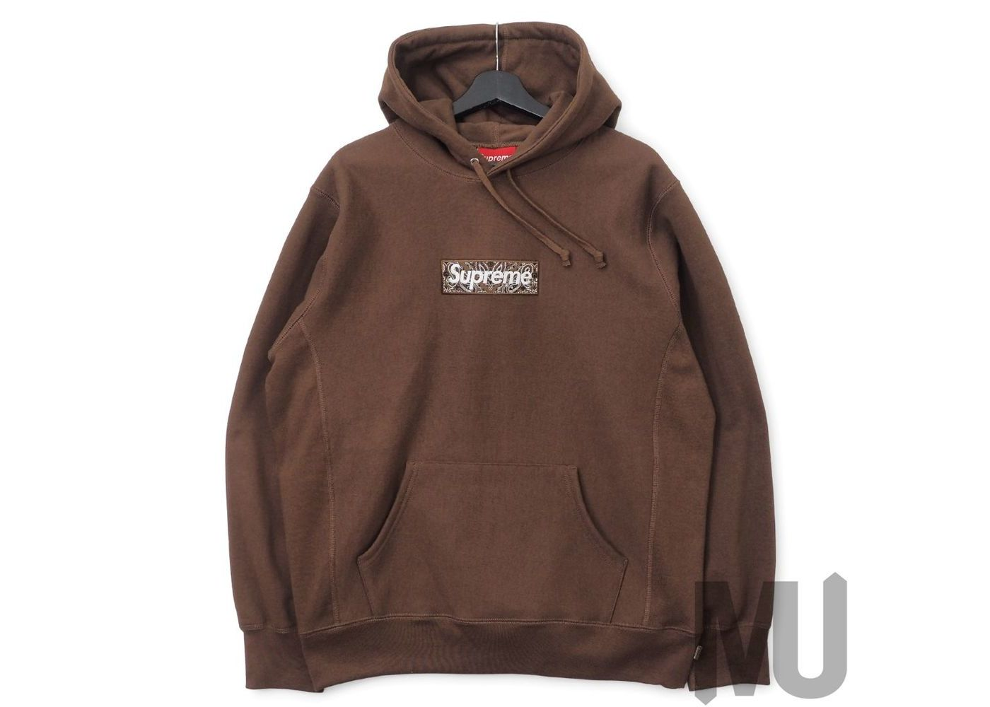 Supreme Bandana Box Logo Hooded Sweatshirt Dark Brownの写真