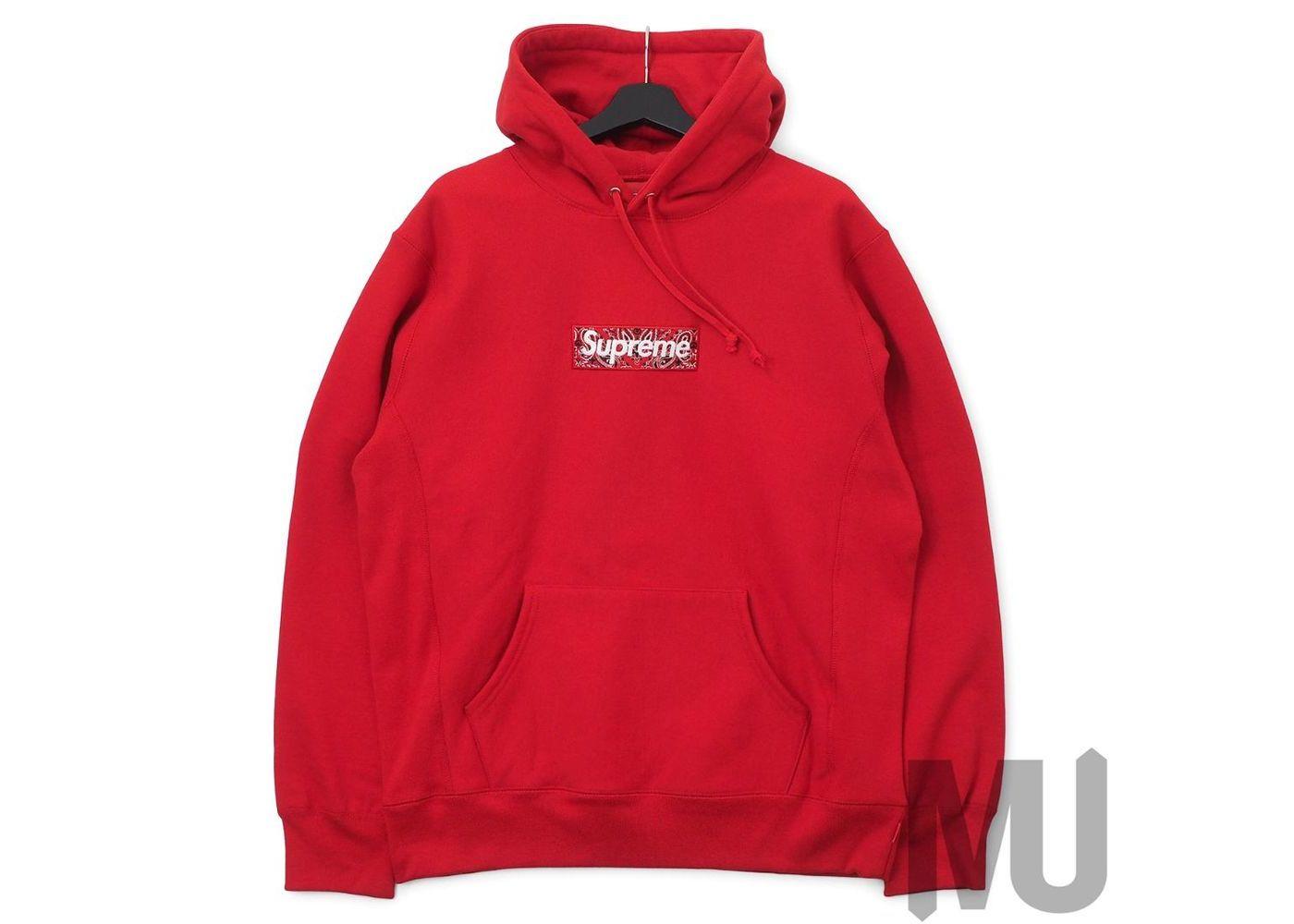 Supreme Bandana Box Logo Hooded Sweatshirt Redの写真