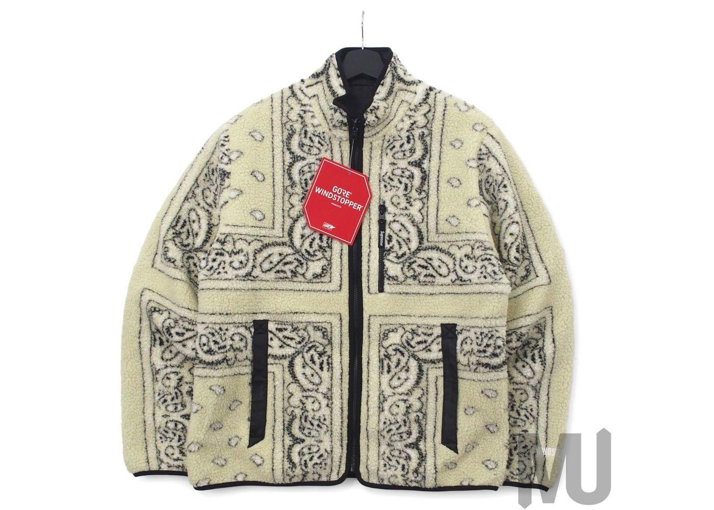 Supreme Reversible Bandana Fleece Jacket Tanの写真