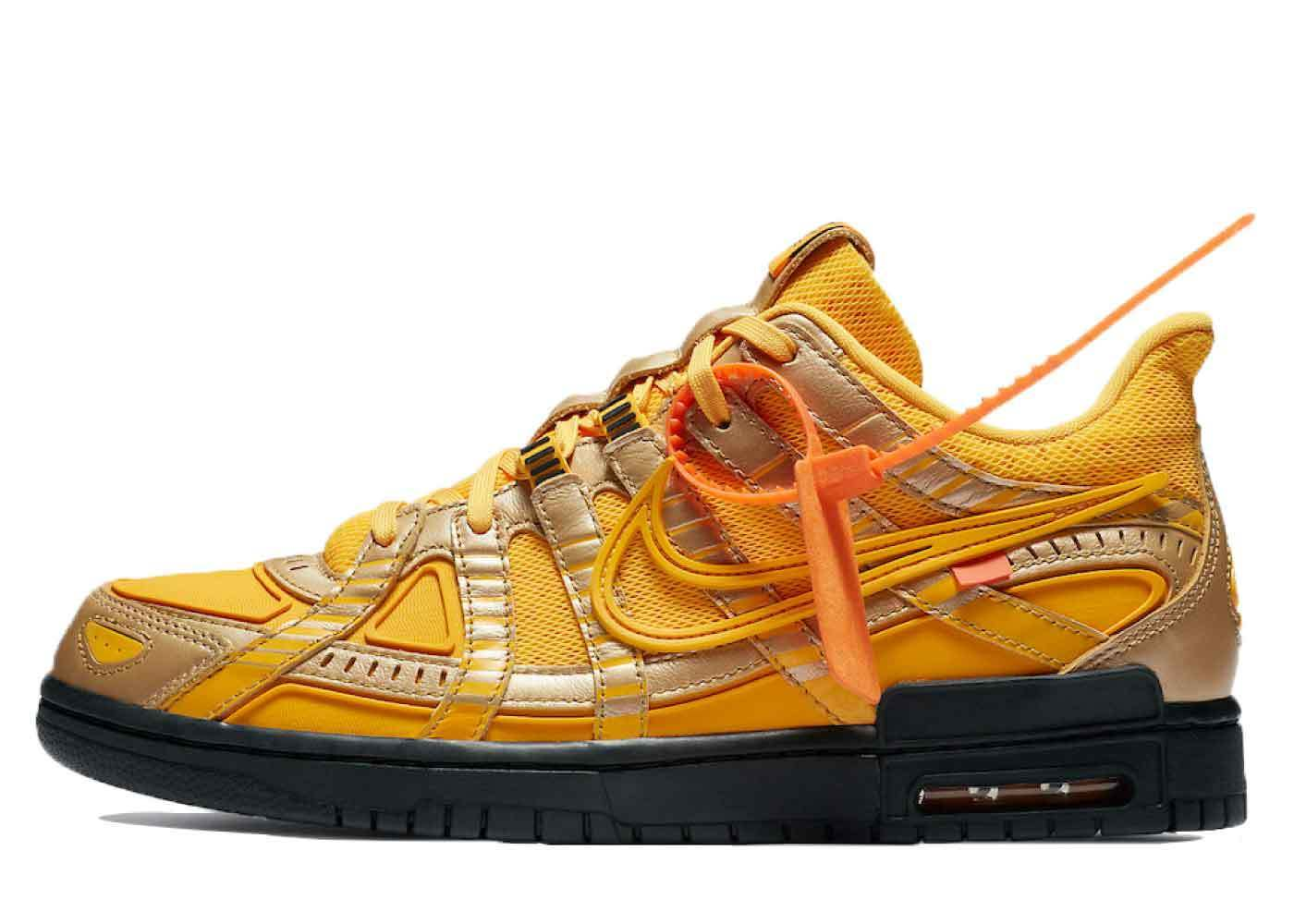Off-White × Nike Air Rubber Dunk Goldの写真