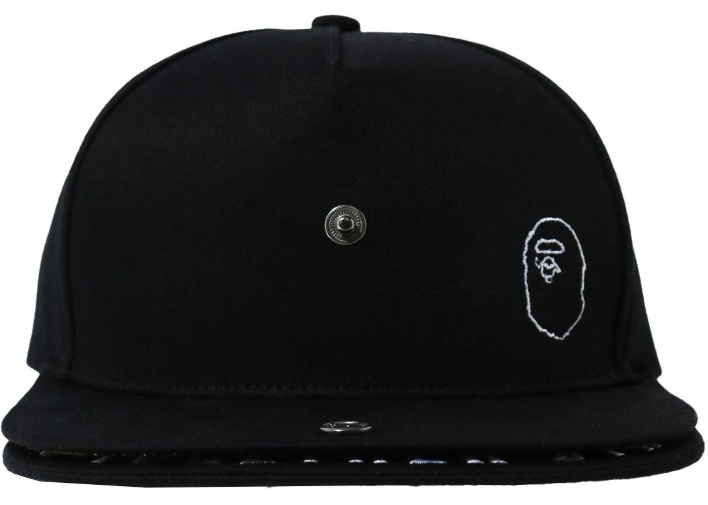 Bape Double Visor Snapback Cap Black (SS21)の写真