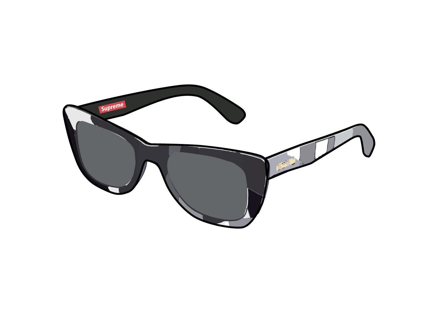 Supreme Emilio Pucci Cat Sunglasses Black (SS21)の写真