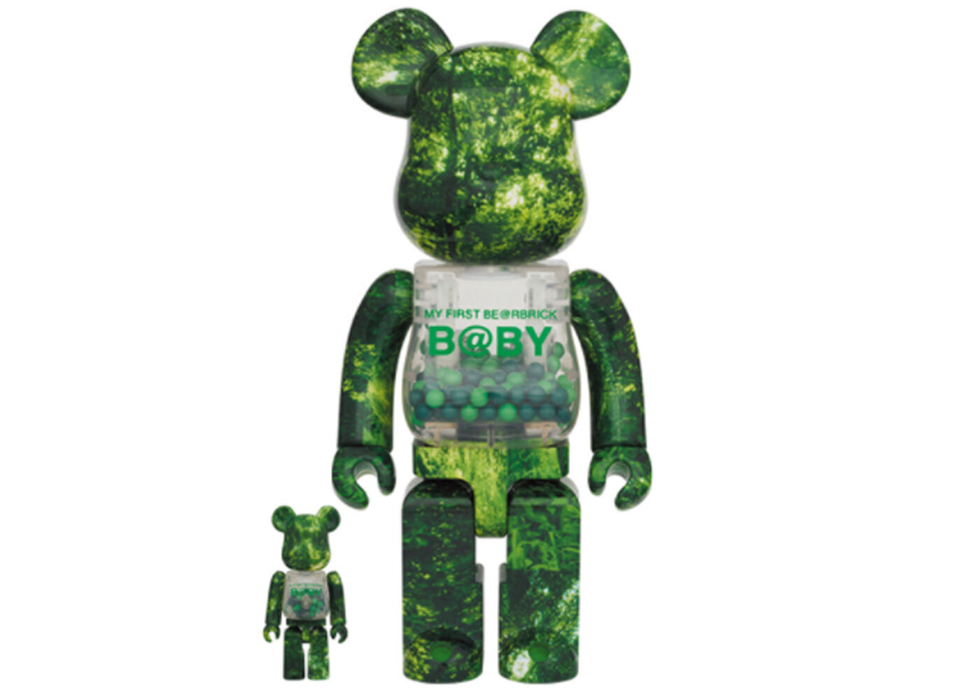 Be@rbrick My First Be@rbrick B@by Forest Green Ver 100% & 400%の写真